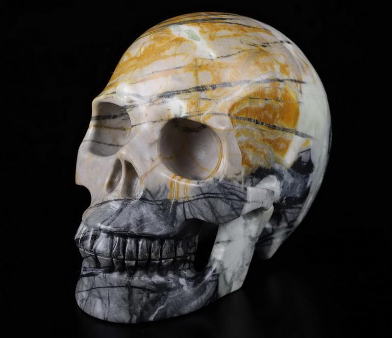 """Huge 4.7"""" PICASSO JASPER Carved Crystal Skull, Realistic ..."""