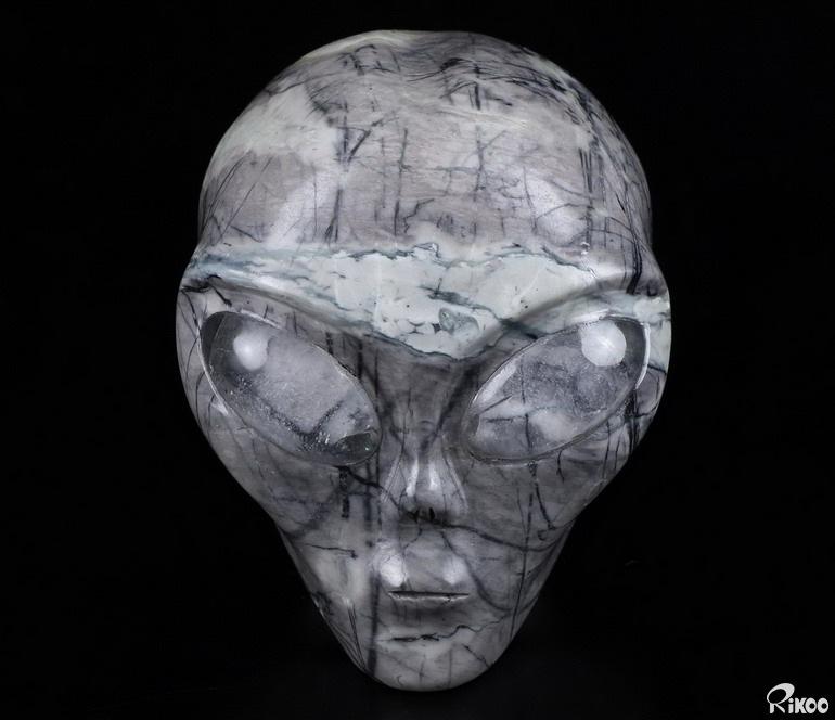 """4.2"""" PICASSO JASPER Crystal Alien Skull, Star Being ..."""
